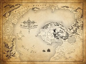 1600x1200 World of Aiénor Map Desktop Image